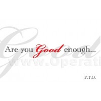 Are you Good Enough... Gospel Tracts (Pack of 100)
