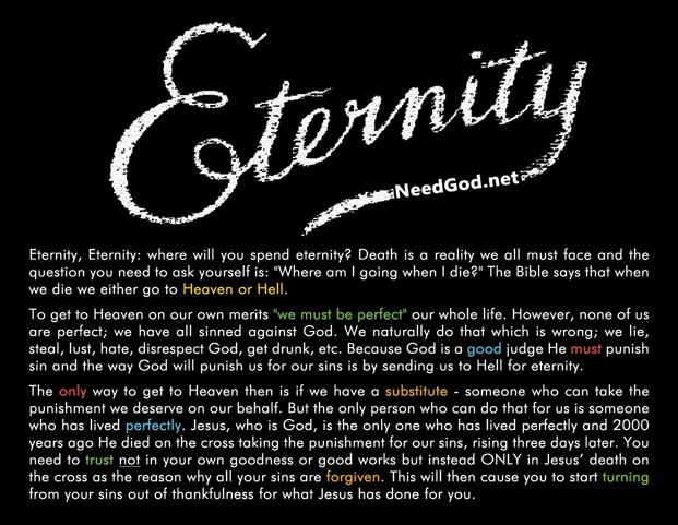 Eternity Postcards (pack of 100)
