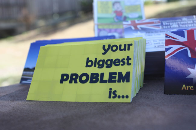 Your Biggest Problem Gospel Tract - Front