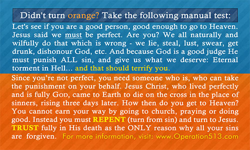 Are you a good person Card - Gospel Tract