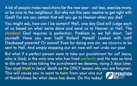 Happy New Year Gospel Tract - Back