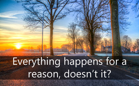 Everything Happens for a Reason Gospel Tract Front