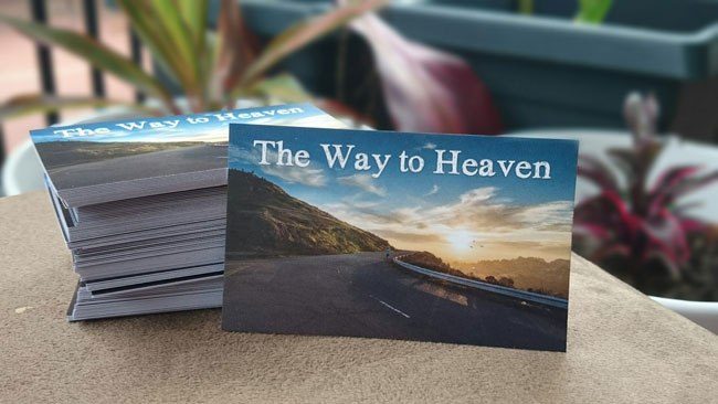 The Way to Heaven Gospel Tract Front