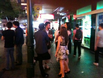 Yarran witnessing to a couple of people