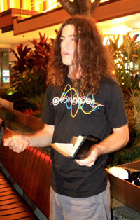 Joel Barnard preaching open air