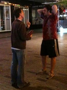 Alex (the agnostic) chatting to Blake