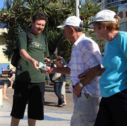 Peter Handing out Tracts