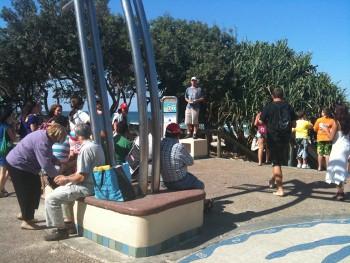Blake preaching at the Gold Coast