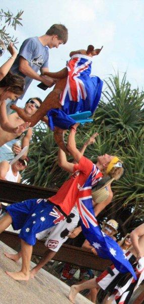 An Aussie Kangaroo gets thrust into Ryan's face