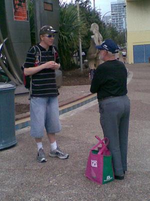 David Strachan witnessing to someone