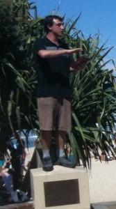 Blake preaching