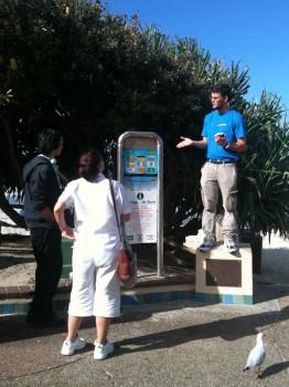 Yarran preaching - 2 hecklers