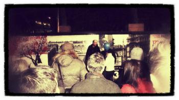 Open-air preaching.