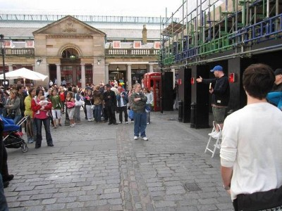 Rob preaching open-air in Covent Garden