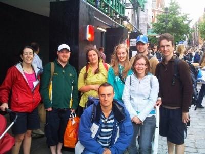 Team photo taken at Covent Garden