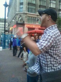 Open air preaching.