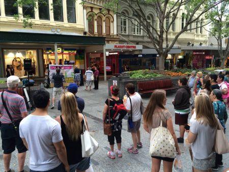 Brisbane city preacher