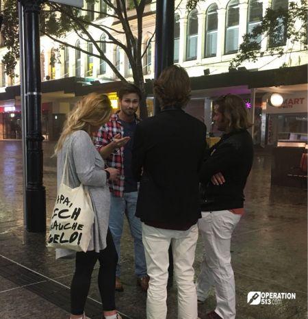 Walk up evangelism Australia