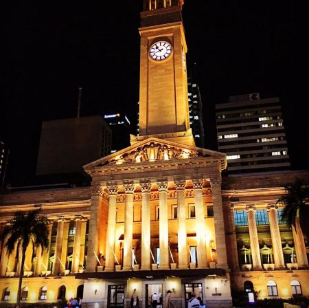 Brisbane City Hall gold for National Day of Prayer and Fasting