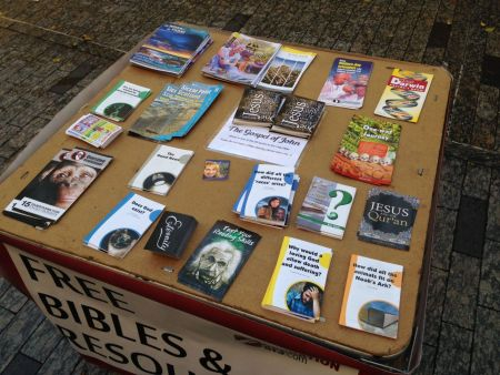 Free Bibles table
