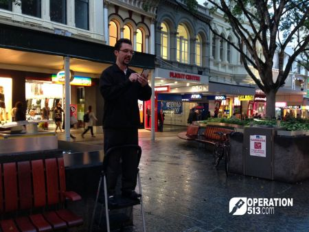 Open Air preaching Brisbane