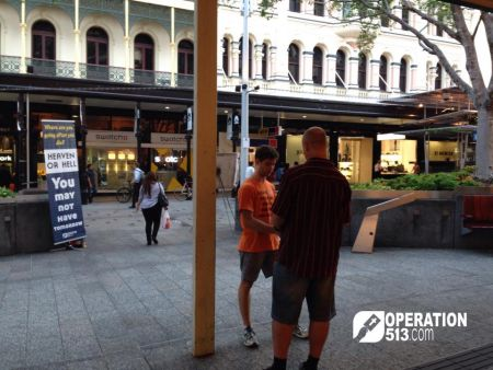 Queen Street Mall Evangelism