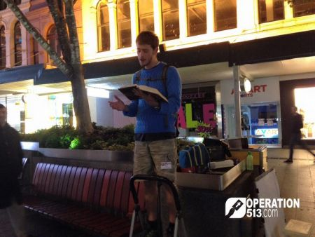 Preaching in the open air Australia