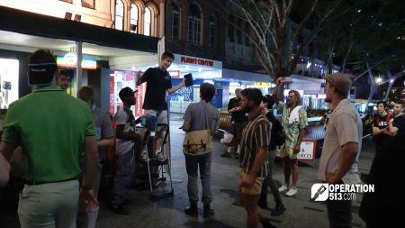 Open air preaching in Australia