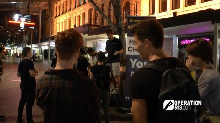 Preaching in Queen Street Mall