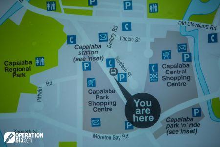 Capalaba map