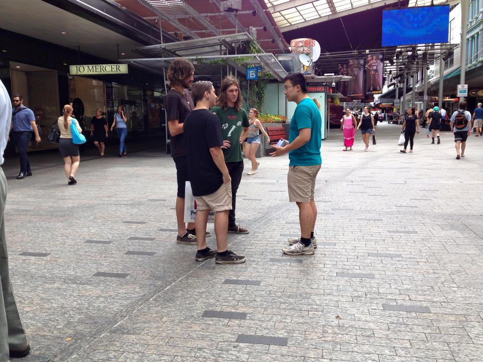 Evangelism in Queen Street Mall, Brisbane