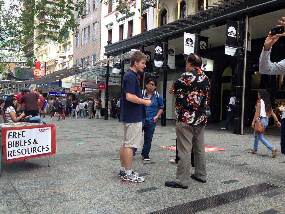 Evangelism in Queen Street Mall