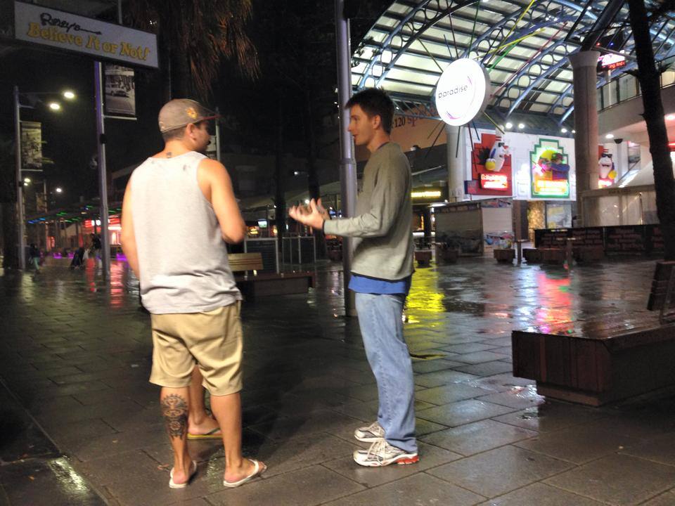 Evangelism at the Gold Coast