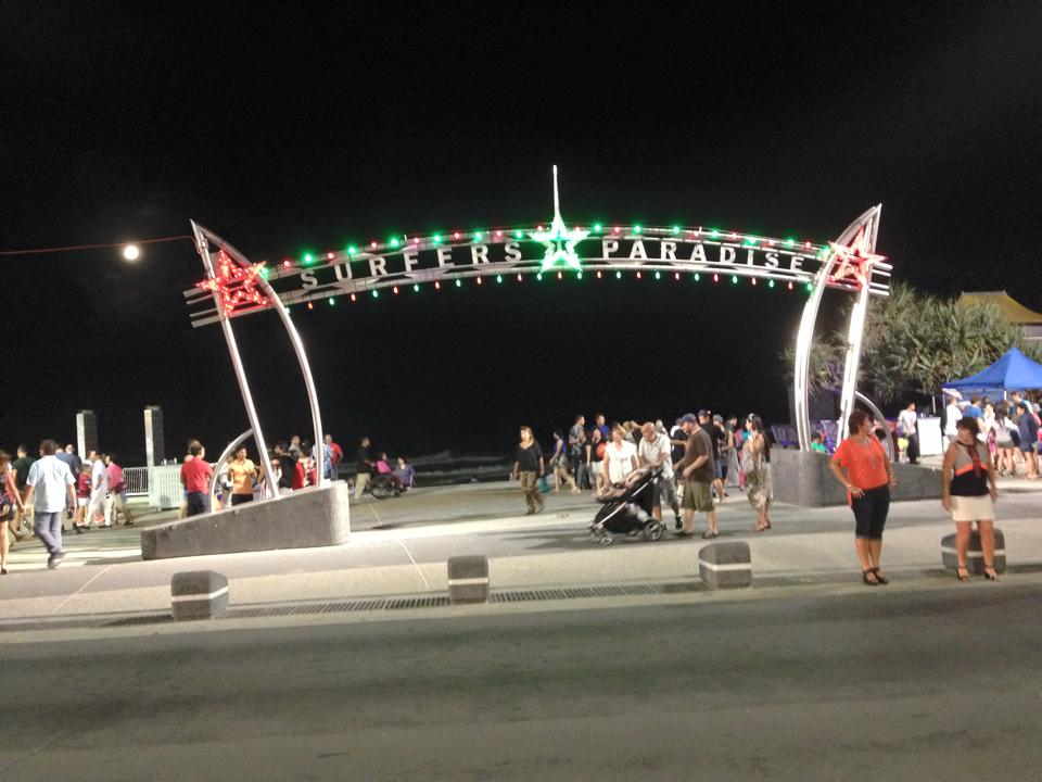 Surfers Paradise during Christmas