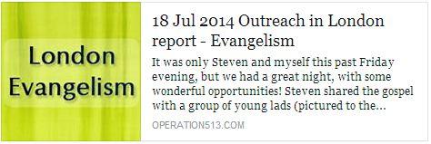 London Evangelism Report