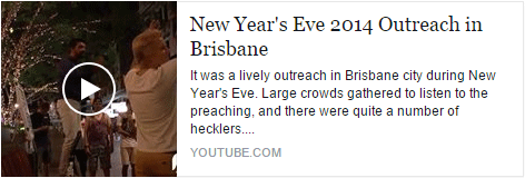 New Year's Eve 2014 Outreach