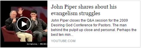 John Piper on Evangelism