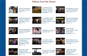 Videos from the Street page